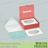 WT-PBX-1761 paper gift box packaging box for note cards