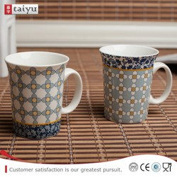 OEM wholesale birds decal ceramic coffee cups drinking cups