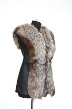 Vest made of natural fur silver Fox, famous fur Russia!