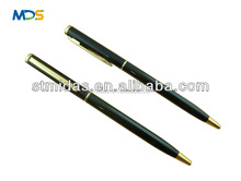 slim ballpoint pen,cheaper hotel pen, metal pen, thin twist pen , custom logo stylus pen