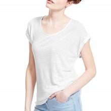 Summer fashion blank round neck t-shirt short sleeve woman t-shirt