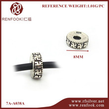 RenFook factory direct sale 925 sterling silver latest fashion oxidised beads