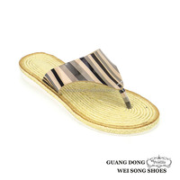 Hot-selling High Quality Slippers Wholesale Straw Shoe Flip Flop