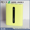 2015 New 6000mah portable external power bank charger with LED torch and indicators