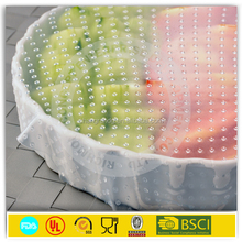 25mm-45mmX1500m supermarket use food grade pvc stretch film for food wrap