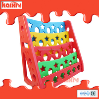kids plastic book cabinet daycare center furniture