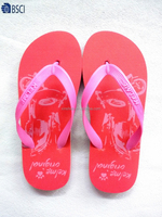 New style 2015 cheap flip flop slippers PE lady slippers with PE outsole