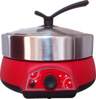 electric multipurpose cooker with BBQ grill & steam rack, multi cooker