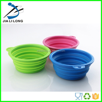 Durable collapsible silicone stand dog water bowls