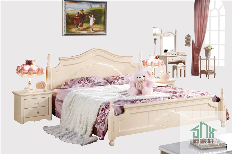 Latest wood bed design ha 825 cot bed wood furniture for Latest double cot designs