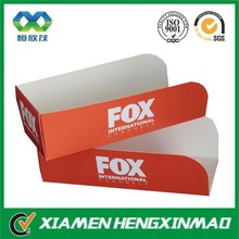 Colorful fancy design paper box for fast food packaging for food boat