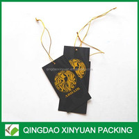 High quality paper hang tags with logo printing garment tags with string