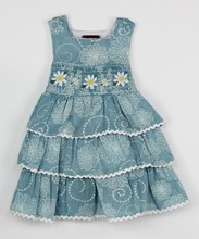 Manufacture OEM supply boutique hot sale girl ruffle smocked dress-infant, toddler & girls