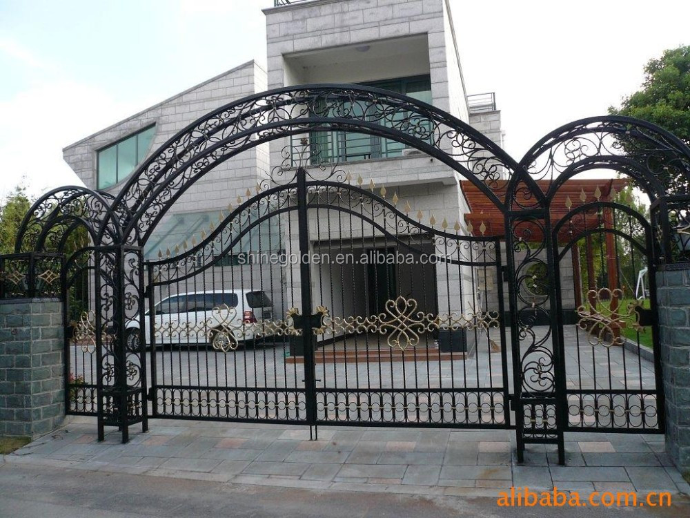 Top selling decorative wrought imperial iron fancy gates
