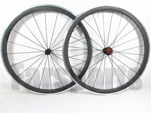 Aluminium brake track 38mm carbon alloy clincher bicycle wheelset with lightweight edhub
