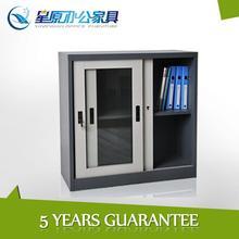 antique mini glass door storage cabinet with 180 degree open