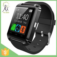 super red wrist sports U8 smart bluetooth watch for ios and android cellphones