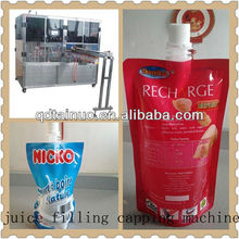 juice stand up filling capping machine