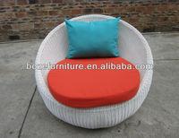 rattan round single sofa / fine wicker garden furniture patio