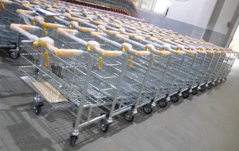 Hand trolley for warehouse