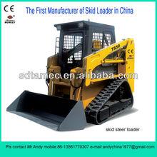 crawler skid loader,bobcat ,Skid steer loader with 40hp engine,loading capacity is 700kg