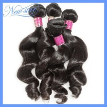 New Star 6a wonderful product peruvian virgin human cheap hair loose wave weave 4bundles mixed lengths