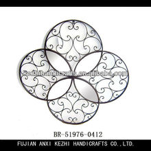 round and scroll metal wall art