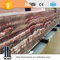 New Red Onyx Marble Flooring tile naturel stone price