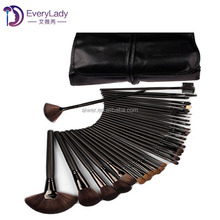 Professional portable high quality makeup brush set 32 piece