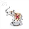 Swarovski Crystals Sliver Metal Ivory Elephant Figurines