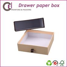 Craft paper storage sliding drawer box with drawer design