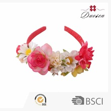 Hotsale Supreme Style Professional Design Beautiful Ribbon Organza Flower Baby Headbands Head Rosette