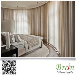 Luxury Five Star Hotel Fire Retardant 100% Polyester Blackout Hotel Curtain