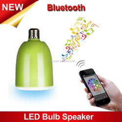 2015 Hot Sale LED Bulb Changeable Color Light with Bluetooth Speaker