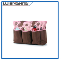 High-quality Polyester Diaper Tote Satchel Diaper Bag