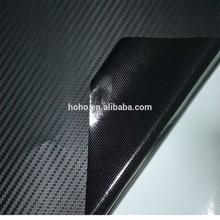 3d negro de fibra de carbono puerta del coche diy wrap rollo de película gráfica etiqueta calcomanía