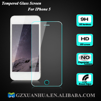 2015 Hot Sell HD Anti-Explosion Anti-Scratch Ultra Clear Premium Tempered Glass Screen Protector For iPhone 5