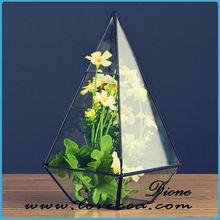 china geometric glass decoration pieces,glass geometric wedding terrarium,succulent terrariums diy
