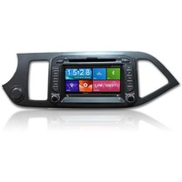 1080 High Definition Capacitive touch screen Car GPS Navigation System for Kia Morning