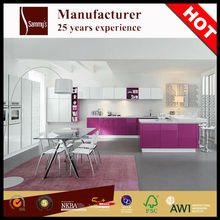 SK404 Foshan direct factory wooden kitchen cabinet simple designs pantry cupboards