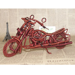 Guo hao custom metal made vivid home decoration wholesale promotional gift, iron wire motorcycle items