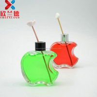 new design 100ml apple shaped clear glass perfume glass bottle