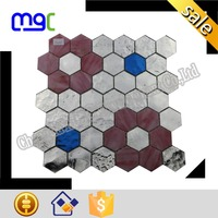 very different hexagon shape stained glass - glass mosaic trend