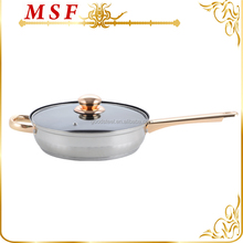 MSF wonderful collection gold plating double sided frying pan,non-stick coating