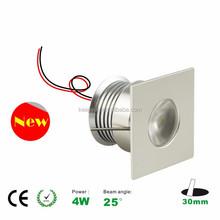 new design square 4W cabinet light led downlight mini