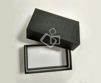 Custom Spot UV logo die cut foam sponge black top and base gift box