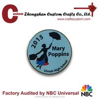 Custom Mary poppins metal lapel pin/musical pin badge