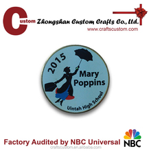 Custom Mary poppins metal lapel pin/musical pin badge