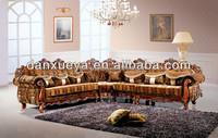 sala wood living room furniture 7 seater sofa set DXY-3102#