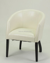 Modern Genuine Leather with Fine lines Hotel Round chair/Dining Chair/Restaurant Chair (ZD-1136)